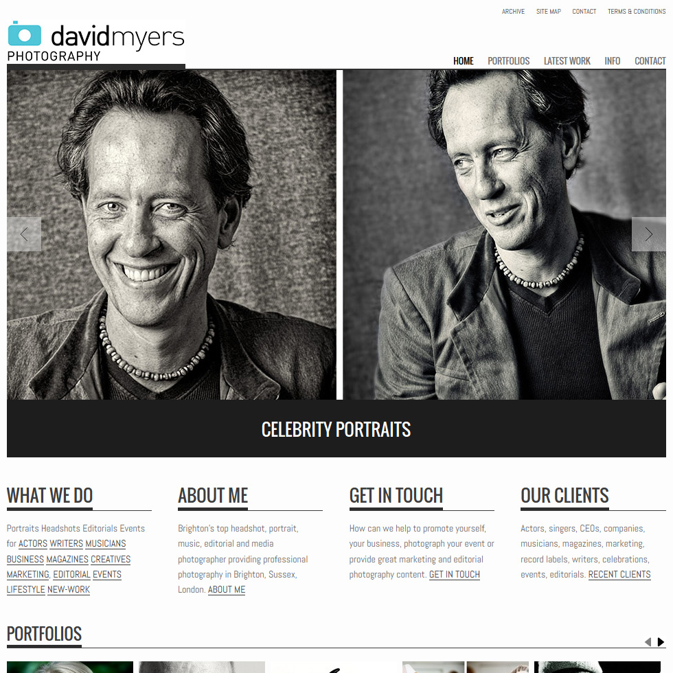 David Myers Photography Website