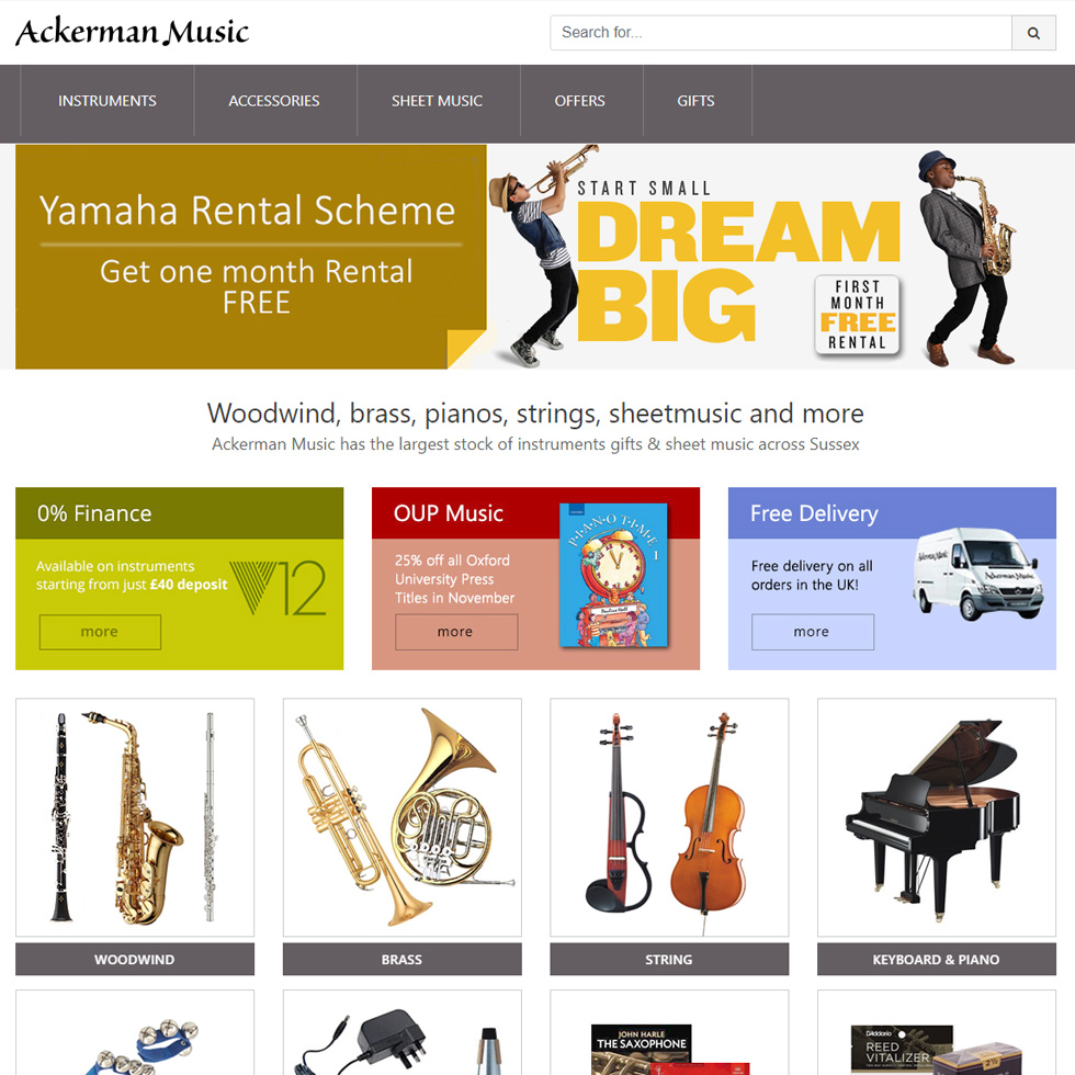 Ackerman Music Website