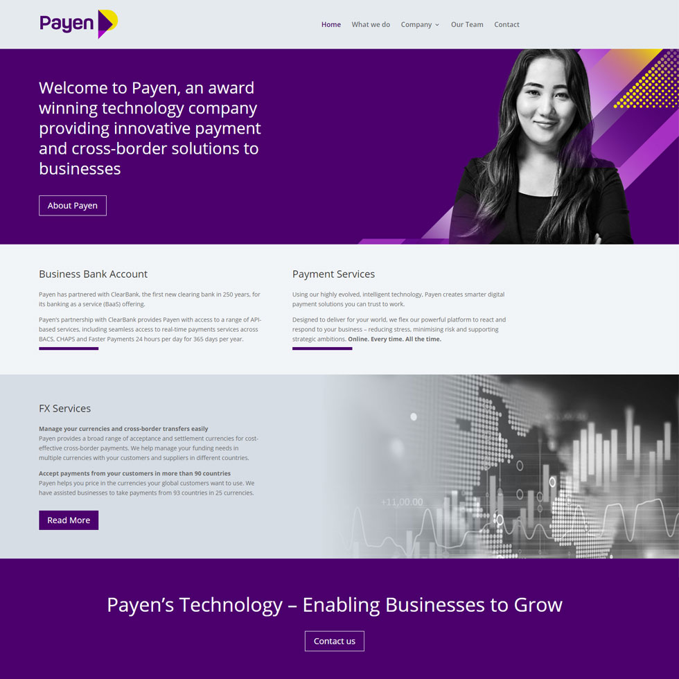 Payen Ltd Website